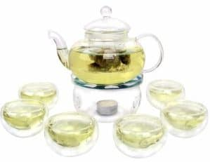 #9 Kendal 27 oz glass filtering tea maker teapot