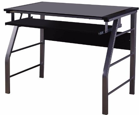 #9 Kingu0027s Brand 2950 Glass Computer Workstation Desk