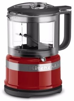 #9 KitchenAid KFC3516ER 3.5 Cup Mini Food Processor, Empire Red