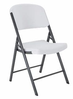 #9 Lifetime 42804 Folding Chair, White Granite, Pack of 4