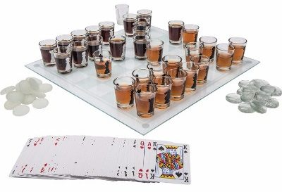 #9 Maxam SPCHESS2 3-in-1 Shot Glass Chess Set