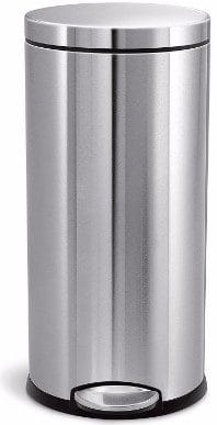 #9 simplehuman Round Step Trash Can, Fingerprint-Proof Brushed Stainless Steel