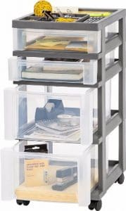 Bonus - IRIS 4-Drawer Storage Cart with Organizer Top