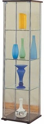 #1 Coaster Modern Contemporary Glass Curio Cabinet