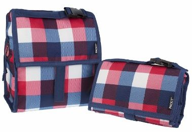 #1 ackIt Freezable Lunch Bag with Zip Closure, Buffalo Check