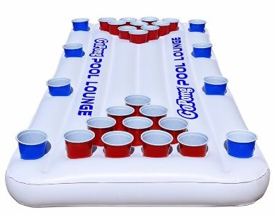 GoPong Pool Lounge Beer Pong Inflatable__