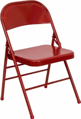 Flash Furniture Series Hinged Red Metal Folding Chair