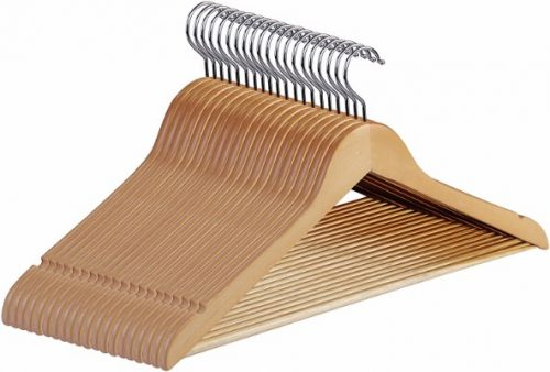 Premium Wooden Hangers - (Pack of 20)