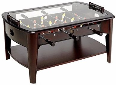 #2 Foosball Coffee Game Wood 42 Table Tempered Glass Top Tabletop