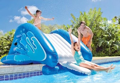 #2 Intex Water Slide, Inflatable Play Center, 135_ X 81_ X 50_, for Ages 6+