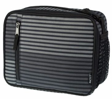 #2 PackIt Freezable Classic Lunch Box, Gray Stripe