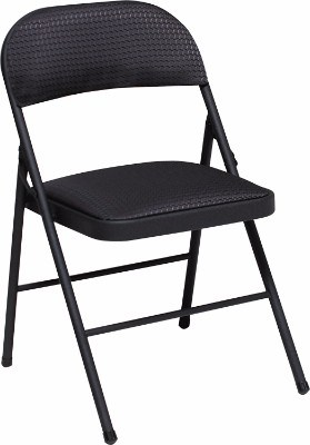 Cosco Fabric 4-Pack Folding Chair, Black__