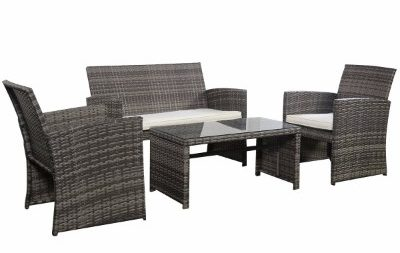 Goplus 4 PC Rattan Patio Furniture Set
