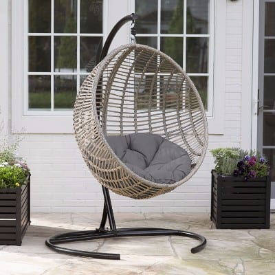 Boho-chic-style Hanging Egg Chair