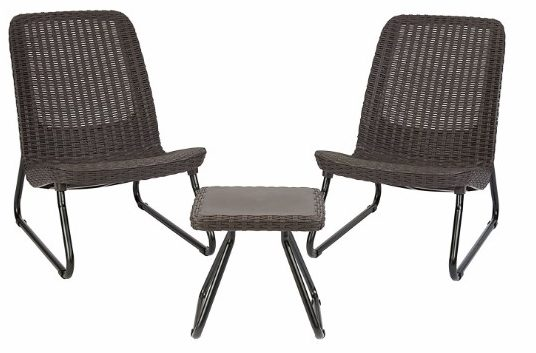 Keter Rio 3 Pc All Weather Outdoor Patio Garden__