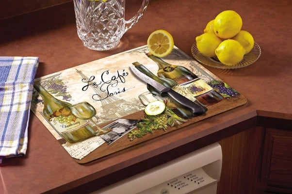 CounterArt Reserve Vintage Glass Cutting Board, 15 x 12 Inches