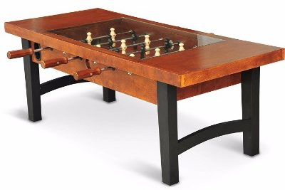 #4 Foosball Soccer Game Wooden Coffee Table