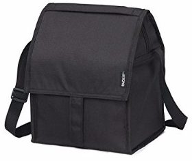 #4 PackIt Freezable Deluxe Large Lunch Bag with Shoulder Strap, Black