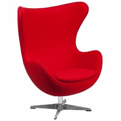 Flash Furniture Red Wool Fabric Egg Chair
