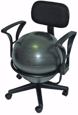 #5 CanDo Metal Ball Chair, 22 with Arms