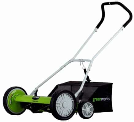 Greenworks 25072 20-Inch 5-Blade Push Reel Lawn Mower