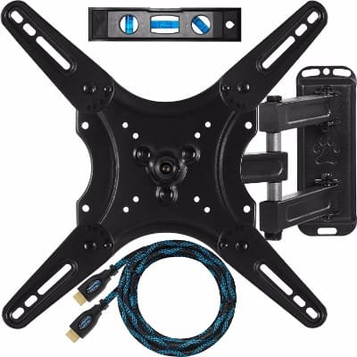 #5. Cheetah Mounts Articulating Arm (20 Extension) TV Wall Mount