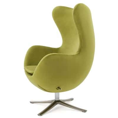 Glendon Arne Jacobsen Style New Velvet Swivel Egg Chair__