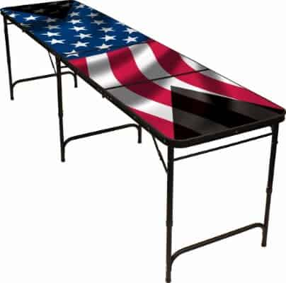 Red Cup Pong American Flag 8' Beer Pong Table