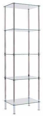 #6 Casa pura Glass Tower Shelving Unit 5 Tier 16 x 12 x 54