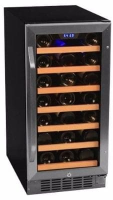 #6 EdgeStar CWR301SZ 15 Inch Wide 30 Bottle Built-In Wine Cooler