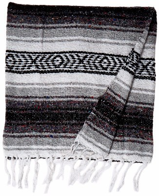 #6 KAYSO Authentic 6' x 5' Mexican Siesta Blanket (Grey)