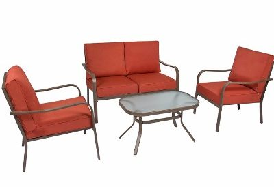Best Choice Products 4 Piece Cushioned Patio Furniture Set