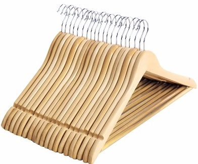 SONGMICS Solid Wood Clothes Hangers, 20 pack