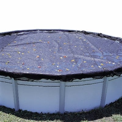 28 ft Round Above Ground Pool Leaf Cover