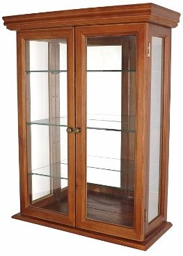 #7 Glass Curio Cabinets - Country Tuscan