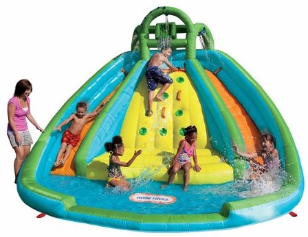 7 little tikes rocky mountain river race inflatable slide bouncer - Inflatable Pool Slide