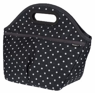 #7 PackIt Freezable Traveler Lunch Bag, Polka Dots