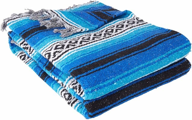 #7 YogaDirect Deluxe Mexican Yoga Blanket