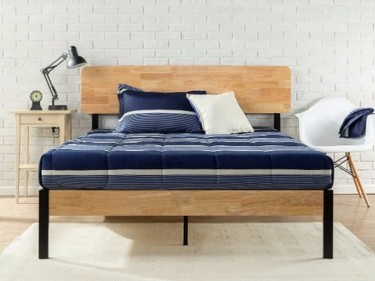 #7 Zinus Tuscan Metal & Wood Platform Bed with Wood Slat Support