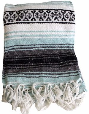 #8 Mexican Style Falsa Yoga Blanket (Sea Green)