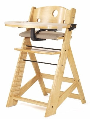 Keekaroo High Chair with Tray, Natural