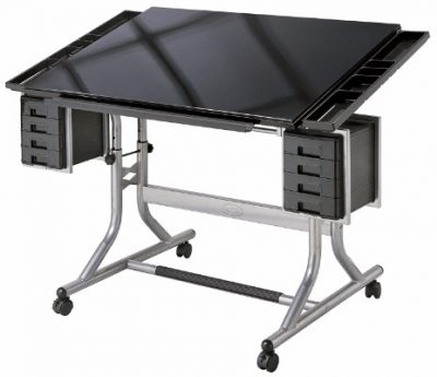 Alvin Cm48gl Craftmaster Ii Drawing Glass Top Table