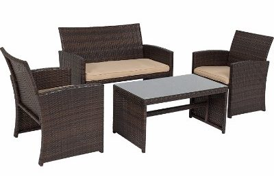 Best Choice Products 4pc Wicker Outdoor Patio Furniture Set __