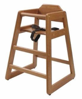 Lipper International 516P High Chair, Pecan