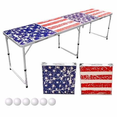 Sports Festival 8-Foot Portable Beer Pong Tables