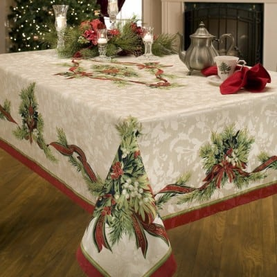 Benson Mills Christmas Tablecloth