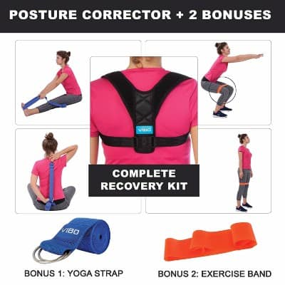 VIBO Care Posture Corrector Clavicle Support Brace Device Improve Bad Posture