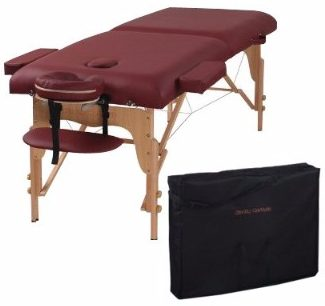 10 heaven massage two fold burgundy portable massage table