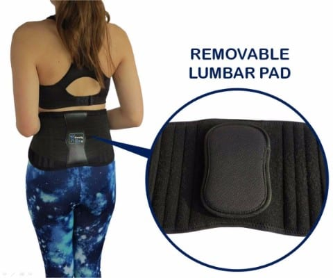 ComfyMed® Premium Quality Back Brace CM-102M with Removable Lumbar Pad
