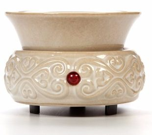 Hosley Cream Ceramic Fragrance Candle Wax Warmer
